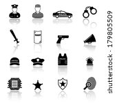 police and law enforcement icons | Shutterstock .eps vector #179805509