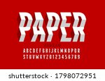 paper craft style font ... | Shutterstock .eps vector #1798072951