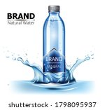 bottle of mineral water with... | Shutterstock .eps vector #1798095937