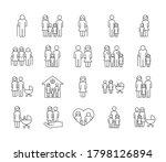 bundle of twenty family parents ... | Shutterstock .eps vector #1798126894