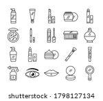 bundle of twenty make up... | Shutterstock .eps vector #1798127134