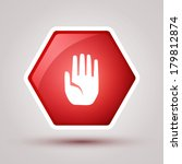 no entry hand sign  | Shutterstock .eps vector #179812874