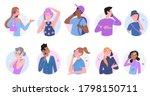 people talk on phone vector... | Shutterstock .eps vector #1798150711