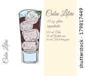 cuba libre. cocktails.... | Shutterstock . vector #179817449