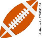 icon of american football ball...