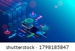 mobile bank conceptual... | Shutterstock .eps vector #1798185847
