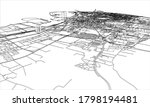 outline city concept. wire...   Shutterstock . vector #1798194481