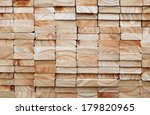 Stack Of Square Wood Planks Fo...