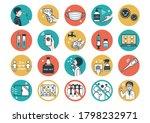 set of corona virus safety... | Shutterstock .eps vector #1798232971