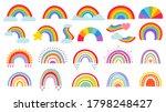 cartoon rainbow. colourful... | Shutterstock . vector #1798248427