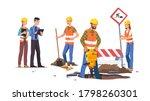 builders men   women repairing... | Shutterstock .eps vector #1798260301