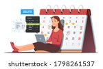 business woman scheduling... | Shutterstock .eps vector #1798261537