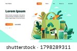 people packing organic food... | Shutterstock .eps vector #1798289311