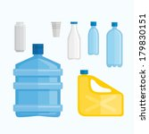 water bottles | Shutterstock .eps vector #179830151