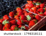 Background Of Strawberries....
