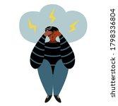 stress  depression  frustration ... | Shutterstock .eps vector #1798336804