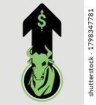bullish stock market symbols...   Shutterstock .eps vector #1798347781