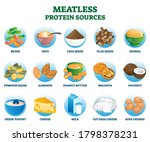 meatless protein sources as... | Shutterstock .eps vector #1798378231