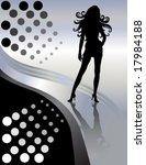 vector sexy long hair woman... | Shutterstock .eps vector #17984188