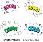 Vector Illustration Of Stickers ...