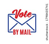 vote by mail envelope postal... | Shutterstock .eps vector #1798435741