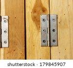Rust Hinge On Wooden Door ...