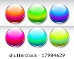 set of glossy buttons   Shutterstock .eps vector #17984629