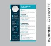 modern creative cv resume... | Shutterstock .eps vector #1798464544