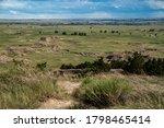 Distant View Of Badlands Rock...