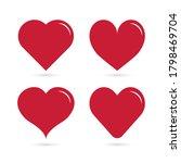 red heart love happy valentine...   Shutterstock .eps vector #1798469704