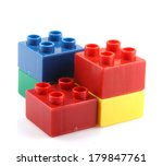 building blocks isolated on... | Shutterstock . vector #179847761