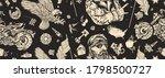 bikers pattern. bearded biker... | Shutterstock .eps vector #1798500727