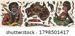 australia. old school tattoo... | Shutterstock .eps vector #1798501417
