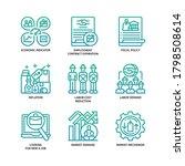 unemployment icons set gradient ... | Shutterstock .eps vector #1798508614