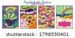 hippie art style backgrounds ... | Shutterstock .eps vector #1798550401