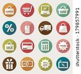 shopping icon set  | Shutterstock .eps vector #179857991