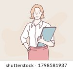 business woman standing in the... | Shutterstock .eps vector #1798581937