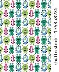 seamless monster pattern design....   Shutterstock .eps vector #179858285