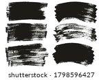 flat paint brush thin long  ... | Shutterstock .eps vector #1798596427