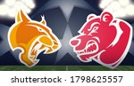 bear versus lynx abstract... | Shutterstock .eps vector #1798625557