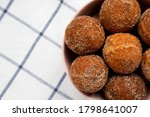 Homemade Fried Donut Holes In A ...