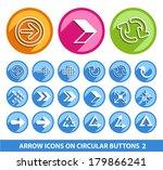 arrow icons on circular buttons ...