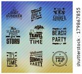 summer typographic designs | Shutterstock .eps vector #179867855