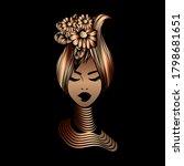 beautiful afro american woman...   Shutterstock .eps vector #1798681651