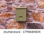 A Retro Looking Green Mailbox ...