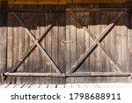Grunge Wooden Barn Door. Rustic ...