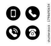 phone icon vector. telephone... | Shutterstock .eps vector #1798690654