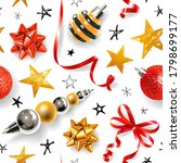 seamless pattern with christmas ... | Shutterstock .eps vector #1798699177