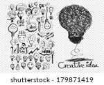 hand doodle business icon set...   Shutterstock .eps vector #179871419
