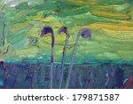 three single plant stalk...   Shutterstock . vector #179871587